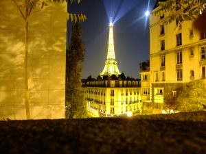 Le Tour Eiffel as seen from outside of Le Palais de Tokyo